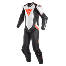 Dainese Laguna Seca 4 One Piece Race Suit White/Fluo
