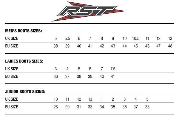 RST Sizing chart